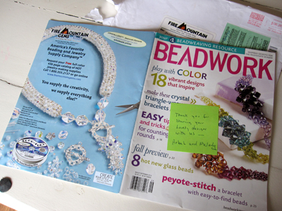 publicatie op cover beadwork -  internationaal kralentijdschrift