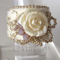 ring met kant en roosje 4