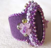 Ring met paarse Jade 1