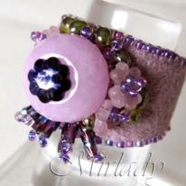 ring met roze Jade 1