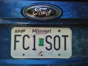 nummerplaat Amerikaanse Ford