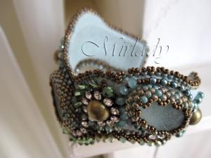 Sea Glass Sea Glass Cuff Bracelet - © Mirlady® Jewel Art