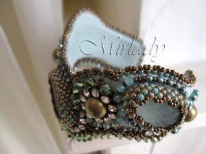 Sea Glass Sea Glass Cuff Bracelet - © Mirlady® Jewel Art