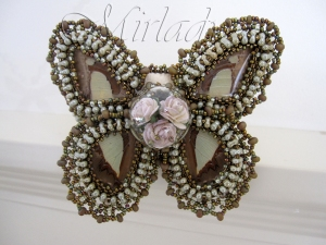 Cuff Bracelet Lacey Wings made from real butterfly wings - © Mirlady® 2013 - Miranda Groenendaal
