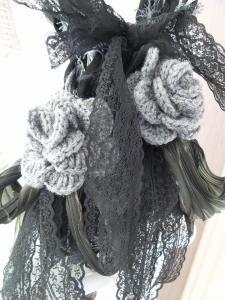 Sjaal - techniek armbreien en haken - © Mirlady 2014