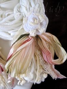 Sjaal - techniek armbreien en haken - © Mirlady 2013