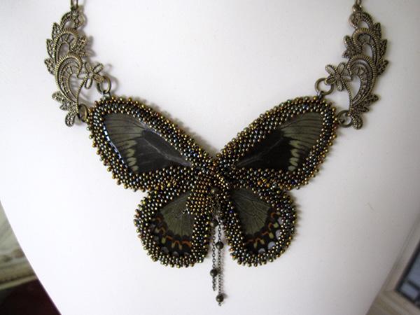 groene vlinder met ornamenten beschrijving 004k