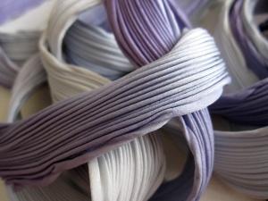 Liquid lavender. Kleurverloop van heel zacht blauw naar lavendel.