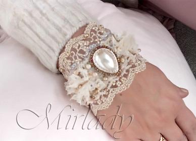 Burlap Bracelet © 2015-2016 Mirlady® - Miranda Groenendaal