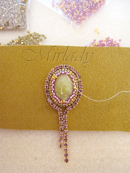 how to Strassketting om een cabochon 4
