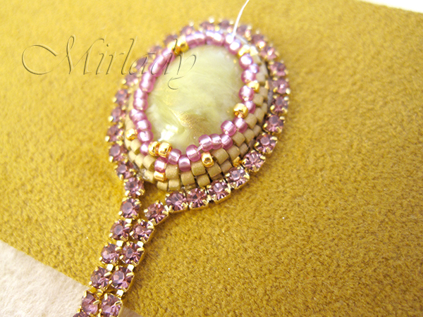 how to Strassketting om een cabochon 5
