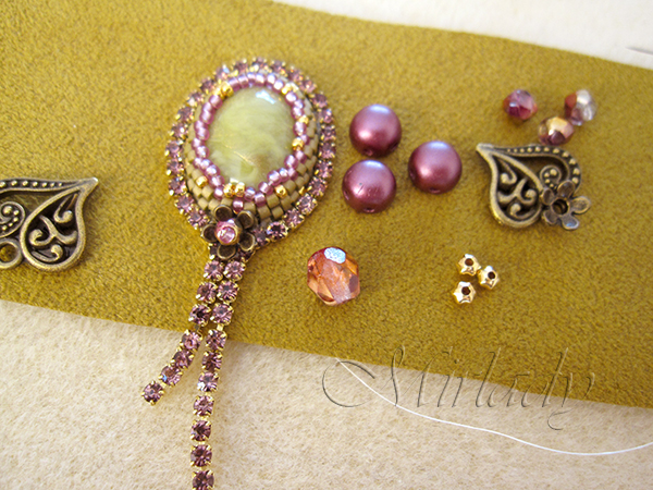 how to Strassketting om een cabochon 8